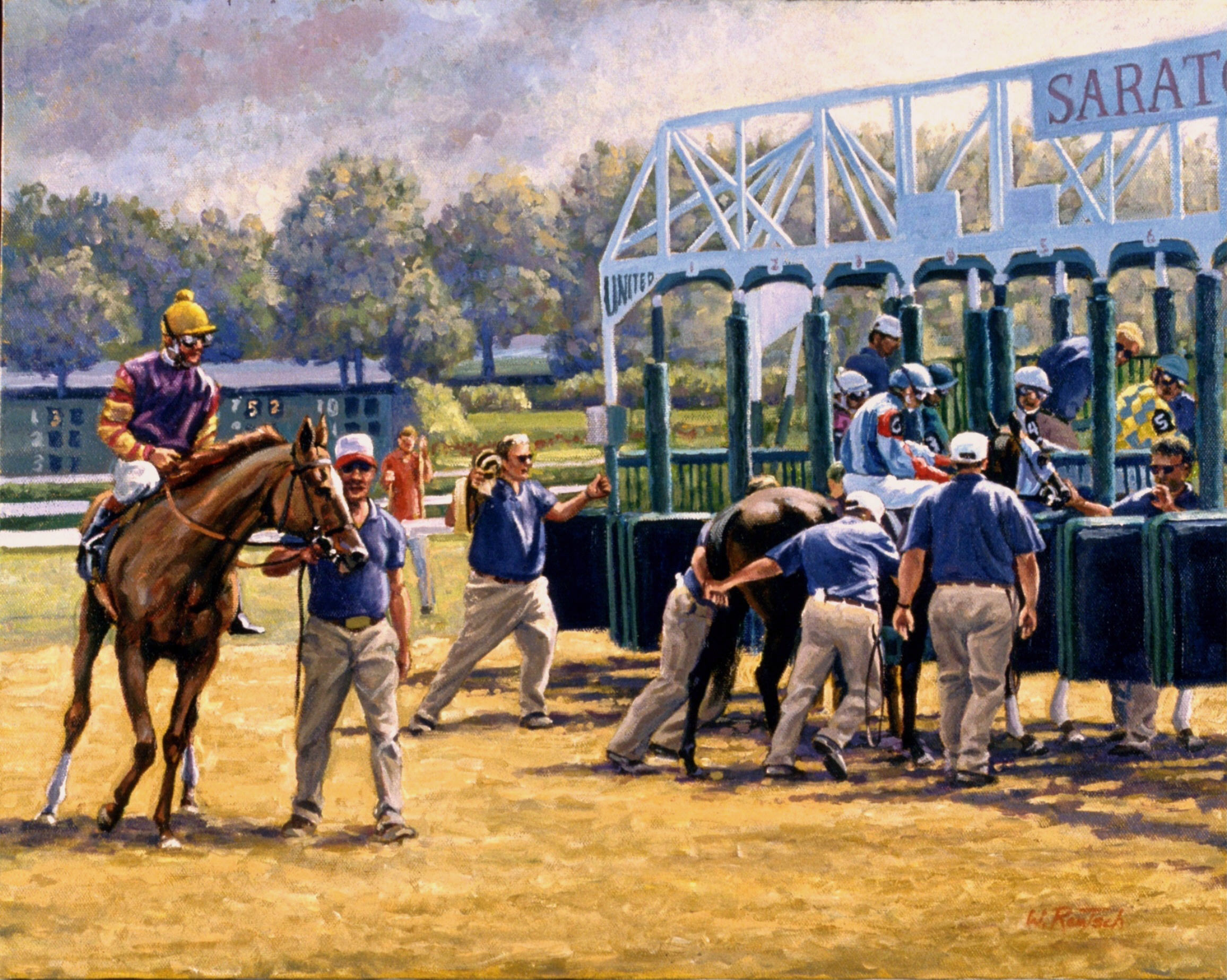 Starting Gate, oil on canvas, 16 x 20 inches, $3000